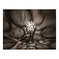 Varaluz 165T01NV Fascination 18 inch 100 watt Nevada Silver with Random Silver Leafing Table Lamp Portable Light in Recycled Clear Bottle alternative photo thumbnail