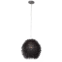 Varaluz Urchin 1 Light Mini Pendant in Black 169M01BL