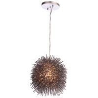Varaluz 169M01CH Urchin 1 Light 9 inch Painted Chrome Mini Pendant Ceiling Light