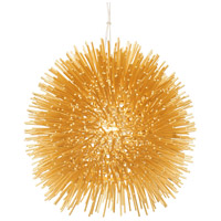 Urchin 1 Light 9 inch Gold Mini Pendant Ceiling Light, Gold Metal