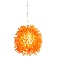Varaluz Urchin 1 Light Mini Pendant in Electric Pumpkin 169M01OR