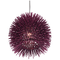 Varaluz 169M01PL Urchin 1 Light 9 inch Plum Mini Pendant Ceiling Light