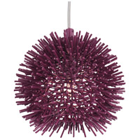 Varaluz 169M01SPL Urchin 1 Light 6 inch Plum Mini Pendant Ceiling Light