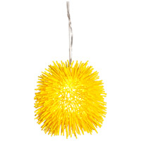 Varaluz 169M01YE Urchin 1 Light 9 inch Un-Mellow Yellow Mini Pendant Ceiling Light