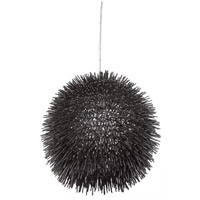 Varaluz Urchin 1 Light Pendant in Black 169P01BL