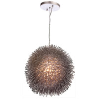 Urchin 1 Light 13 inch Painted Chrome Pendant Ceiling Light
