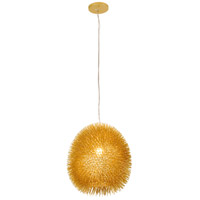 Urchin 1 Light 13 inch Gold Pendant Ceiling Light, Gold Metal
