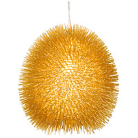 Varaluz 169P01GO Urchin 1 Light 13 inch Gold Pendant Ceiling Light Gold Metal