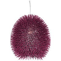 Varaluz 169P01PL Urchin 1 Light 13 inch Plum Pendant Ceiling Light