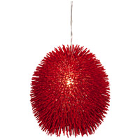 Urchin 1 Light 13 inch Super Red Pendant Ceiling Light