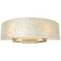 Radius 2 Light 23 inch Gold Dust Vanity Wall Light in Sustainable Crushed Natural Capiz Shell