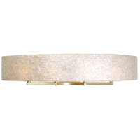 Radius 4 Light 36 inch Gold Dust Vanity Wall Light in Sustainable Crushed Natural Capiz Shell