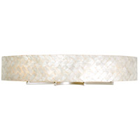 Radius 4 Light 36 inch Gold Dust Vanity Wall Light in Sustainable Herringbone of Natural Capiz Shell