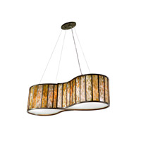 Varaluz Affinity 4 Light Linear Pendant in New Bronze 175N04A