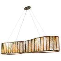 Affinity 6 Light 60 inch New Bronze Linear Pendant Ceiling Light