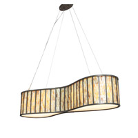 Varaluz Affinity 6 Light Linear Pendant in New Bronze 175N06SA