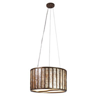 Varaluz Affinity 3 Light Pendant in New Bronze 175P03