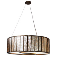 Varaluz Affinity 5 Light Pendant in New Bronze 175P05