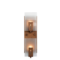 Recycled Varaluz Illusion Bath Light - Vertical Two Light in Hammered Ore 177W02 photo thumbnail