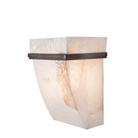Varaluz 178K01A Big 1 Light 7 inch Brilliant Mojave Sconce Wall Light in Reclaimed Kabebe Shell