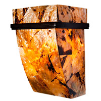 Varaluz 178K01B Big 1 Light 7 inch Brilliant Mojave Sconce Wall Light in Reclaimed Chocolate Tiger Shell