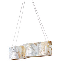 Varaluz Big 4 Light Linear Pendant in Reclaimed Kabebe Shell 178N05A
