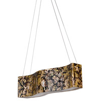 Varaluz 178N05B Big 4 Light 36 inch Linear Pendant Ceiling Light in Reclaimed Chocolate Tiger Shell
