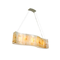 Varaluz Big 6 Light Linear Pendant in Reclaimed Kabebe Shell 178N06A alternative photo thumbnail