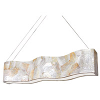 Varaluz 178N07A Big 8 Light 60 inch Linear Pendant Ceiling Light in Reclaimed Kabebe Shell