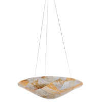 Varaluz 178P03A Big 3 Light 20 inch Chandelier Ceiling Light in Reclaimed Kabebe Shell