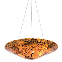 Varaluz Big 3 Light Chandelier in Reclaimed Chocolate Tiger Shell 178P03B