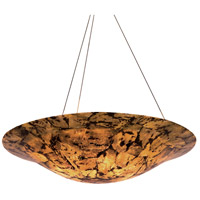 Big 4 Light 24 inch Chandelier Ceiling Light in Reclaimed Chocolate Tiger Shell