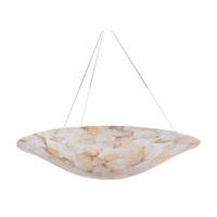 Varaluz Big 5 Light Chandelier in Reclaimed Kabebe Shell 178P05A