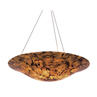 Big 5 Light 36 inch Chandelier Ceiling Light in Reclaimed Chocolate Tiger Shell