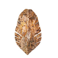 Varaluz Big 2 Light Banana Leaf Sconce with Sustainable Chocolate Tiger Shell 178W02B photo thumbnail