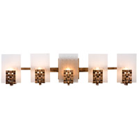 Dreamweaver 5 Light 28 inch Blackened Copper Vanity Wall Light