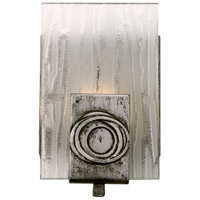 Polar 1 Light 5 inch Blackened Silver Vanity Wall Light