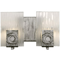 Varaluz 182B02 Polar 2 Light 10 inch Blackened Silver Vanity Wall Light