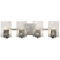 Polar 4 Light 22 inch Blackened Silver Vanity Wall Light