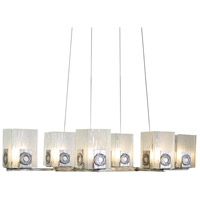 Polar 6 Light 36 inch Blackened Silver Chandelier Ceiling Light