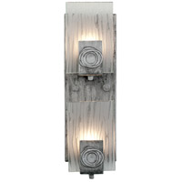 Polar 2 Light 5 inch Blackened Silver Vanity Wall Light
