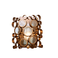 Fascination 1 Light 8 inch Hammered Ore Vanity Wall Light in Recycled Half-Frosted Cylinder