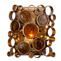 Fascination 1 Light 8 inch Kolorado Vanity Wall Light in Recycled Half-Frosted Cylinder