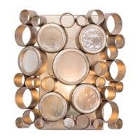Fascination 1 Light 8 inch Zen Gold Vanity Wall Light in Recycled Champagne Bottle Glass