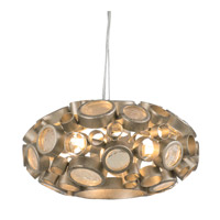 Fascination 3 Light 11 inch Zen Gold Pendant Ceiling Light