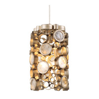 Fascination 2 Light 6 inch Zen Gold Pendant Ceiling Light in Champagne