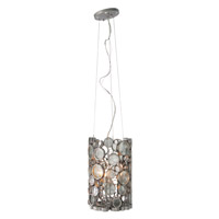Varaluz Fascination 3 Light Pendant in Nevada Silver with Random Silver Leafing 193P03NV