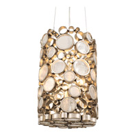 Fascination 3 Light 10 inch Zen Gold Pendant Ceiling Light in Champagne