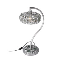 Varaluz Fascination 1 Light Question Mark Table Lamp in Nevada Silver with Random Silver Leafing 193T01NV