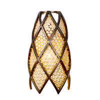 Varaluz Argyle 1 Light Vanity in New Bronze w/ Desert Pearl 203B01